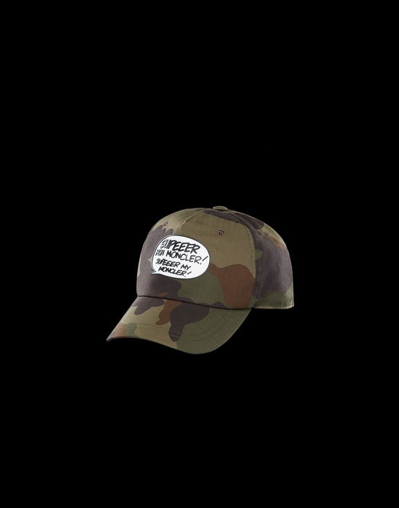18SS Moncler Speech Balloon Men's Cap Camouflage