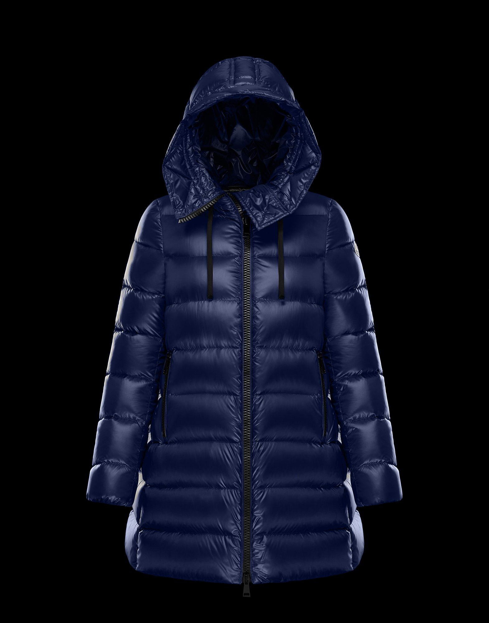Women Moncler Down Jacket SUYEN Blue