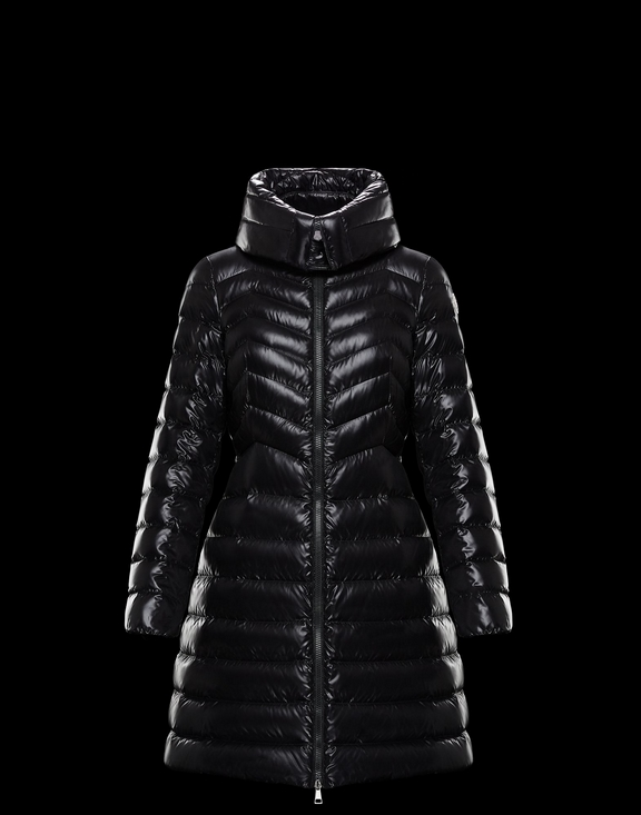 Women Moncler Down Jacket FAUCON Black