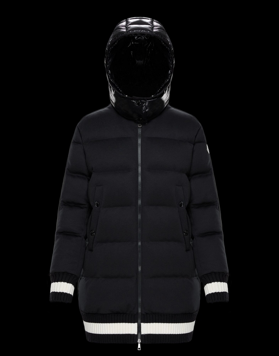 Women Moncler Down Jacket HARFANG Black