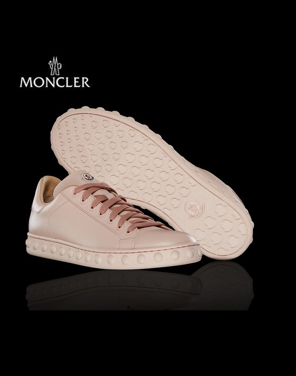 18SS Moncler Fifi Leather Studs Lady's Sneaker Pink