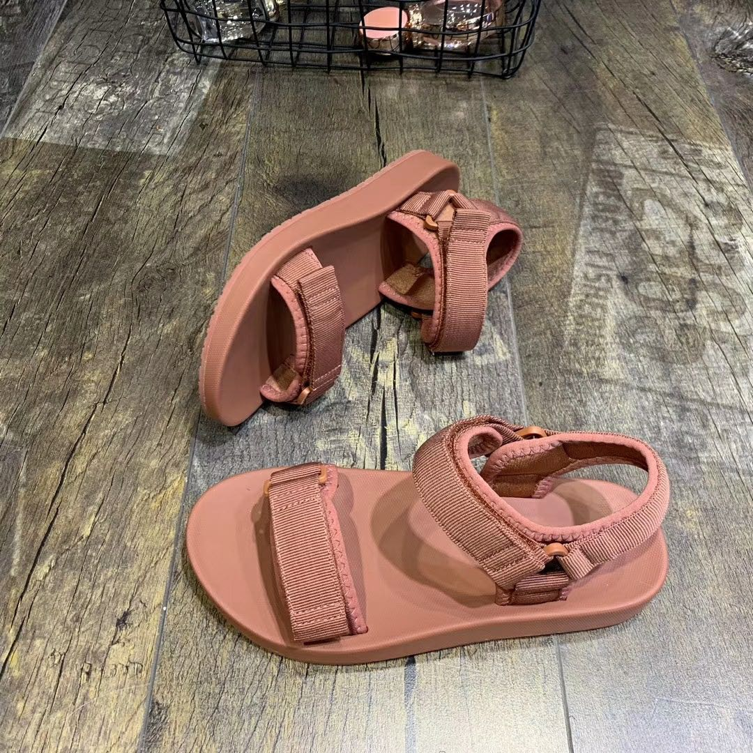 Binhbet Leather Platform Sandals Women 2019 Summer Women's Chunky Shoes Fashion Buckle Thick Soled Casual Woman Beach Sandal