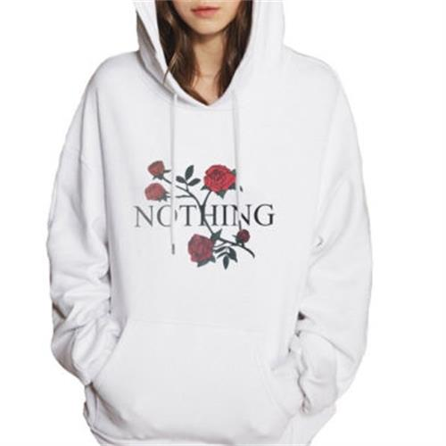 New 2017 Hot Women Embroidery Long Sleeve Large Pocket Hooded Hoodie Sweatshirt Casual Hooded Coat Pullover Tops