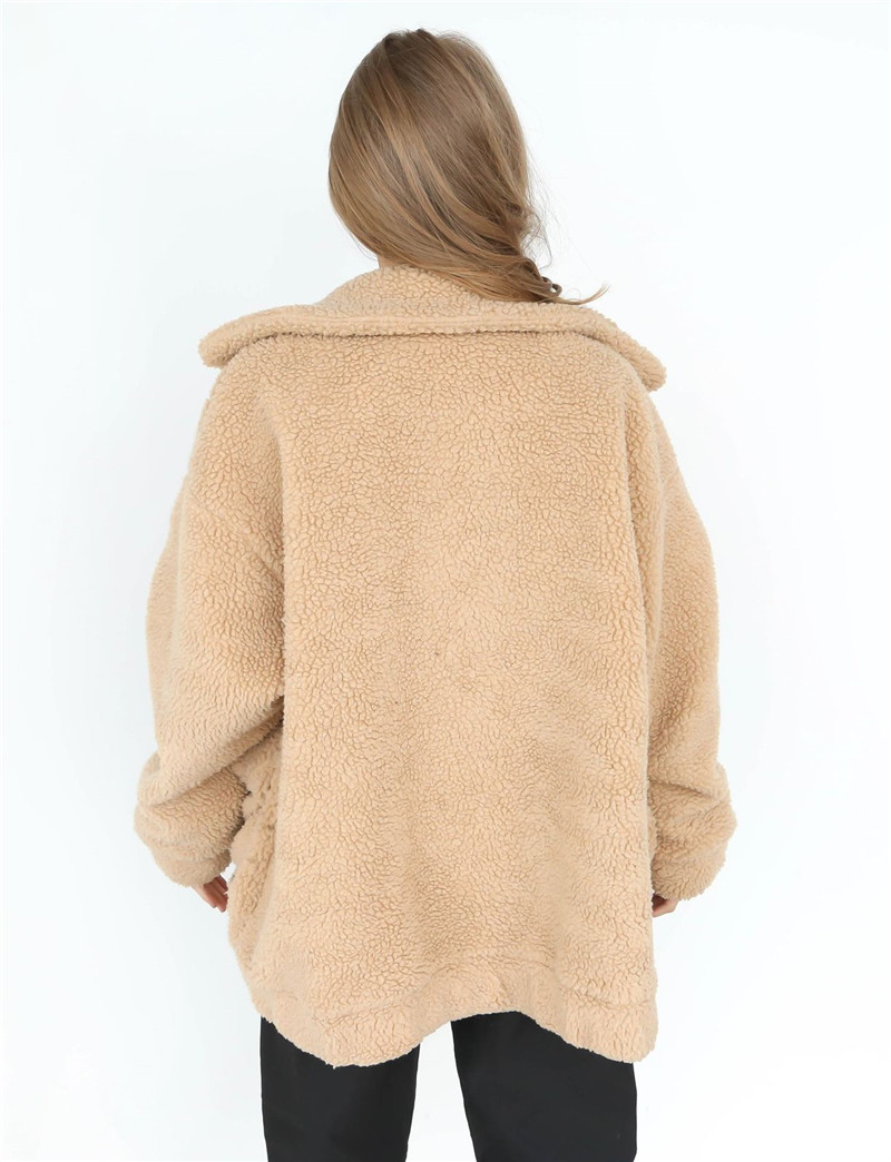 New 2018 Fashion Women Winter Warm Long Sleeve Oversized Loose Coat Wool Blends Thick Outwear Clothes Cardigan Outwear Coat