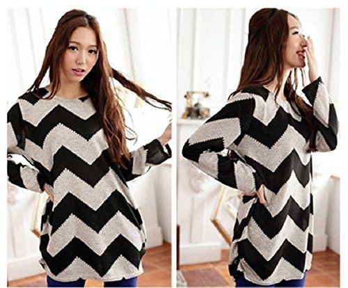 2017 New Arrive Women Ripple Strip Crewneck Long Sleeve Casual Loose Sweater Knitted O neck Pullover T shirt Tops