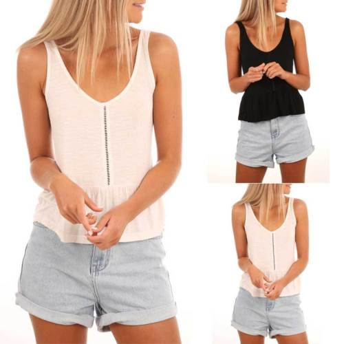 New 2018 Fashion Women Summer Sleeveless Vest Tops Shirt Blouse Casual Tank Tops Shirt