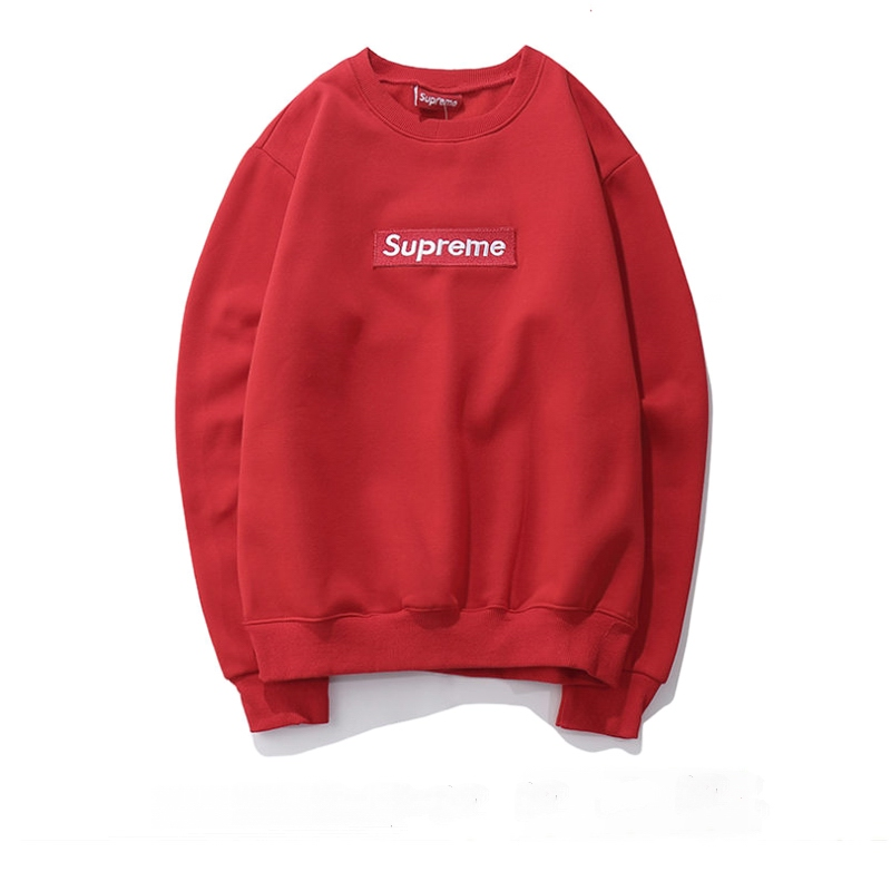 Supreme Box Logo Crewneck Sweatshirt Red