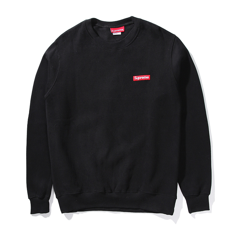Supreme Small Box Pique Crewneck Sweatshirt Black