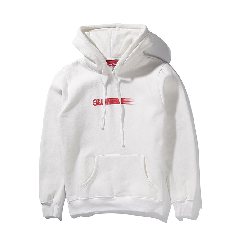 Supreme Box Logo Hooded Sweatshirt Pullover White 001