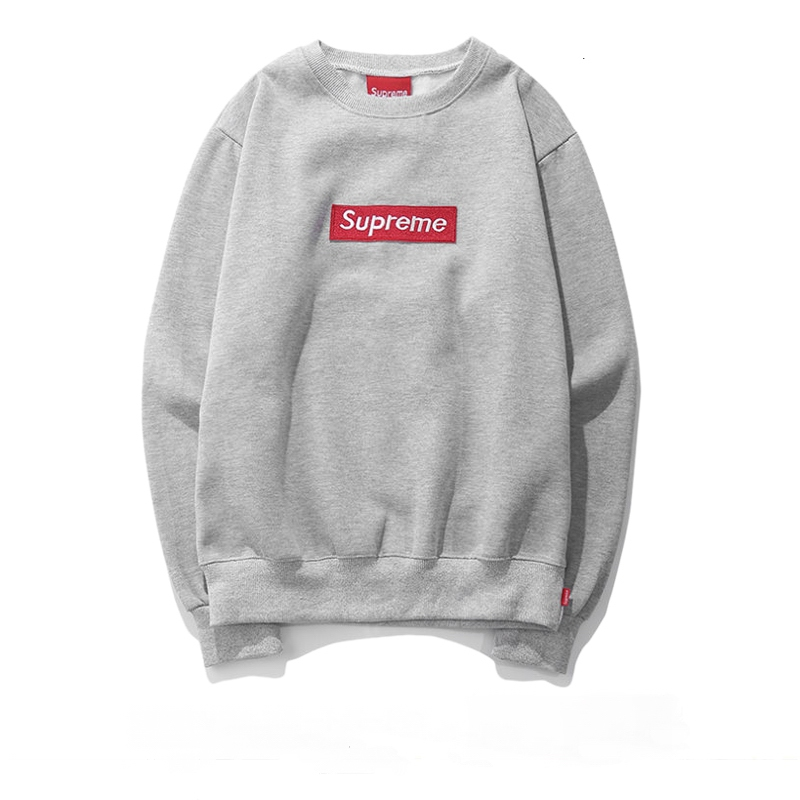 Supreme Box Logo Crewneck Sweatshirt Gray