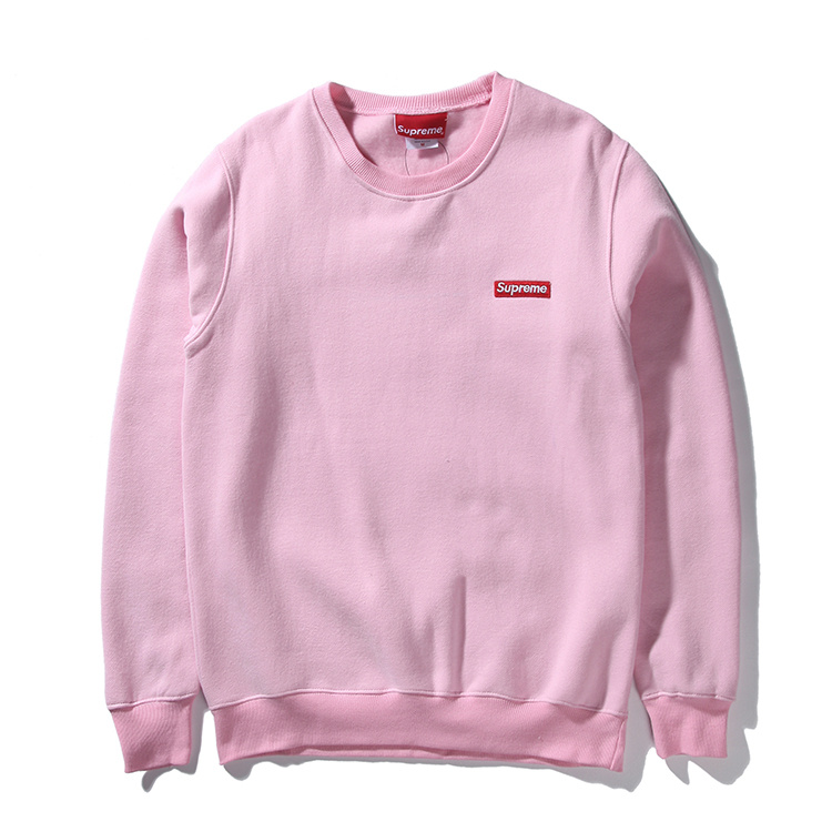 Supreme Small Box Pique Crewneck Sweatshirt Pink