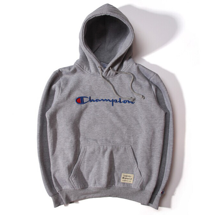 Supreme Champion Hooded Sweatshirt Gray
