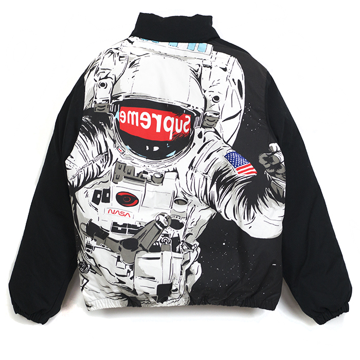 16FW Supreme Astronaut Puffy Jacket NASA Black