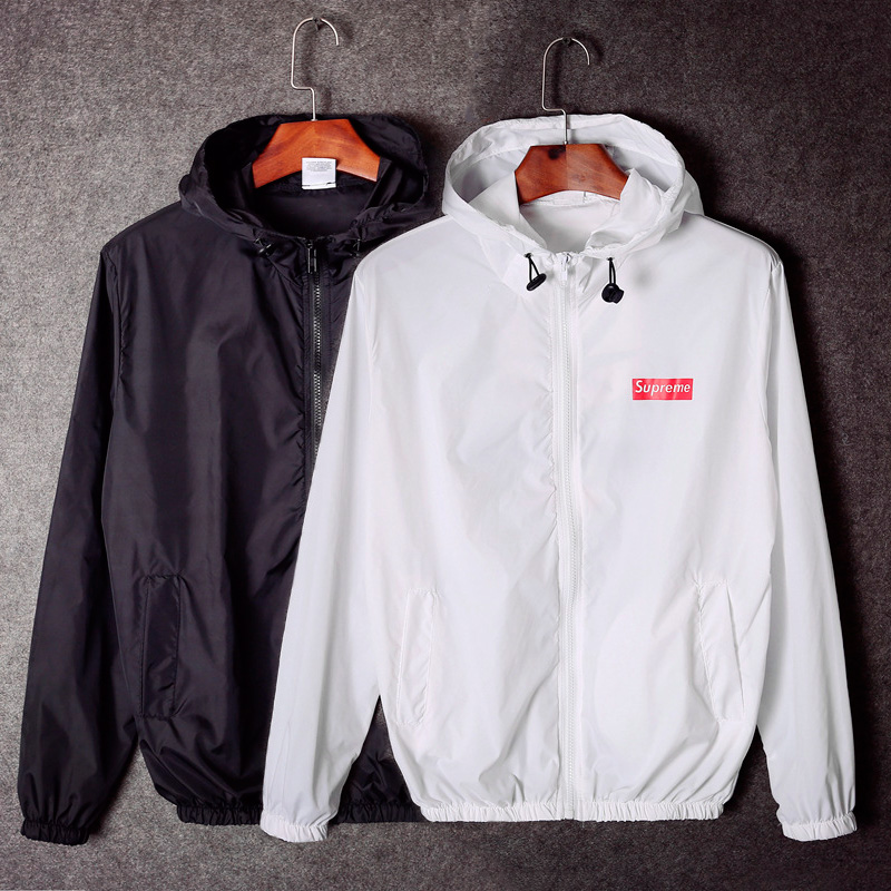 Supreme Box Logo Men And Women Sunscreen Jacket 2 Color