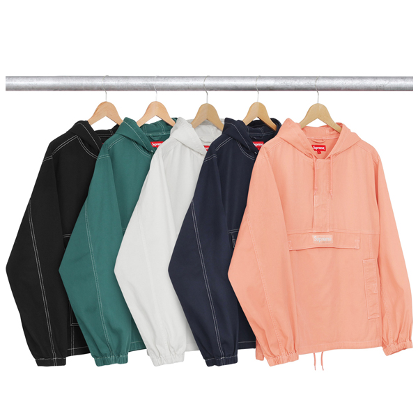 2017FW Supreme Contrast Stitch Twill Pullover 5 Color