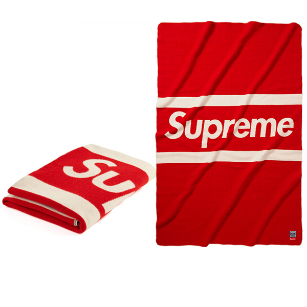 Superme Box Logo Faribault Blanket Red