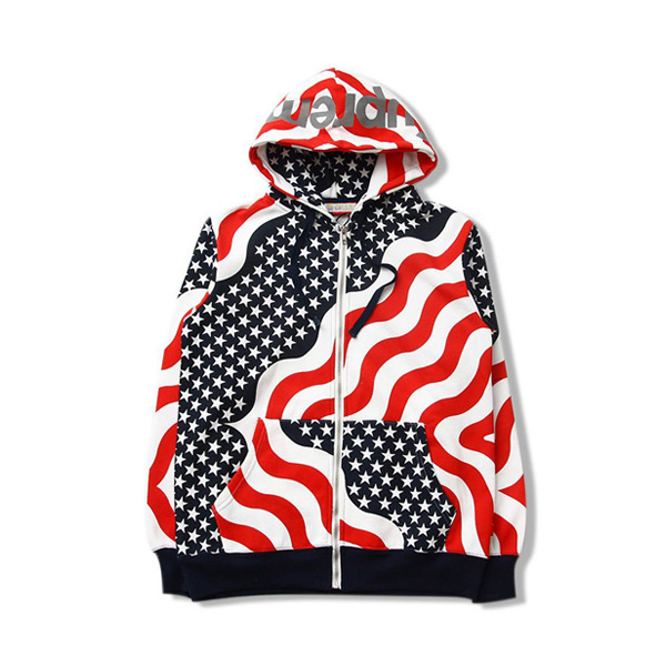 Supreme Flag Zipper Hooded Sweatshirt