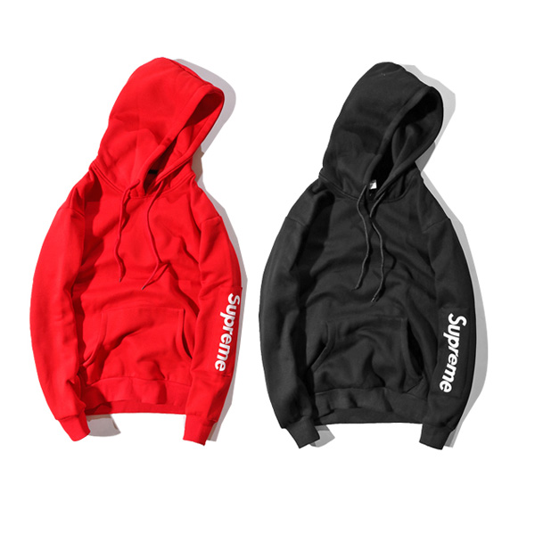 Supreme Logo Hooded Sweatshirt 2 Color