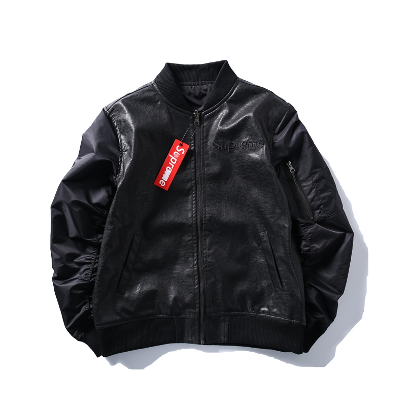 Supreme Locomotive Leather Jacket Black