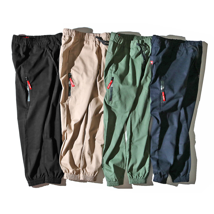 Supreme Camo Zipper Casual Pants 4 Color
