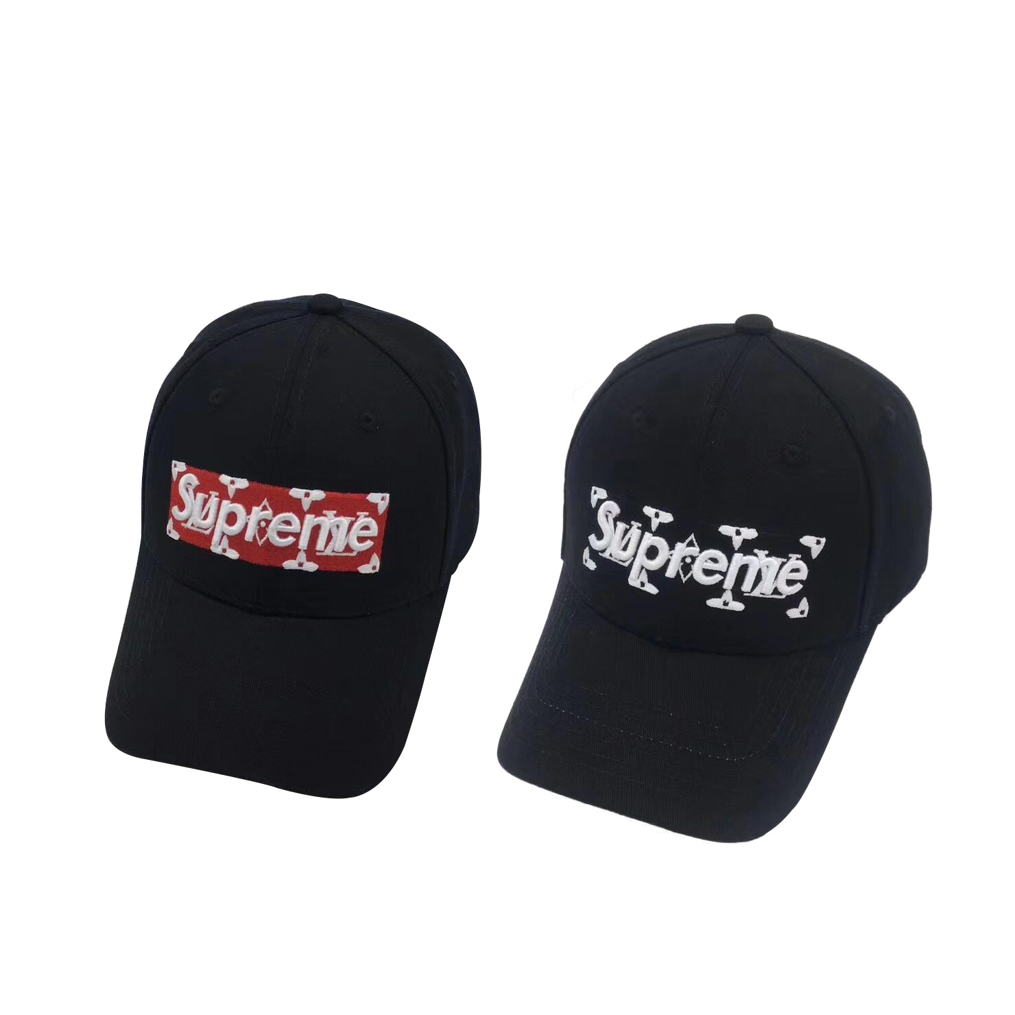 17SS Supreme X Louis Vuitton Big Logo Cap 2 Color