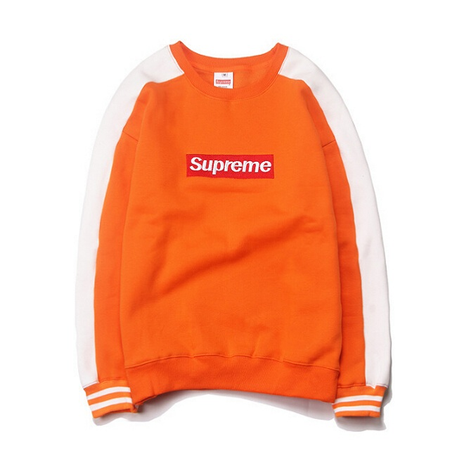 Supreme Splice Box Logo Crewneck Orange