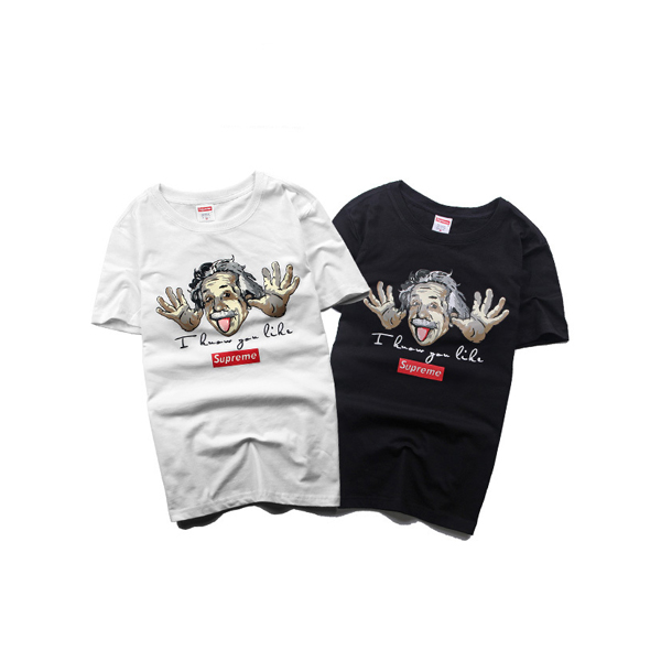 Supreme Einstein Cartoon Logo T-shirt 2 Color