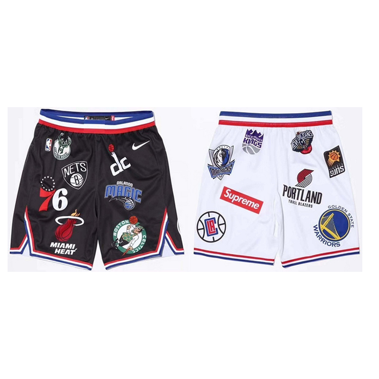 18SS Supreme X NBA X Nike Basketball Shorts 2 Color