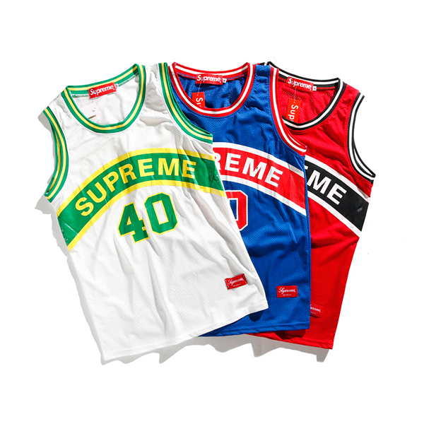 17SS Supreme Curve Basketball Jersey 3 Color