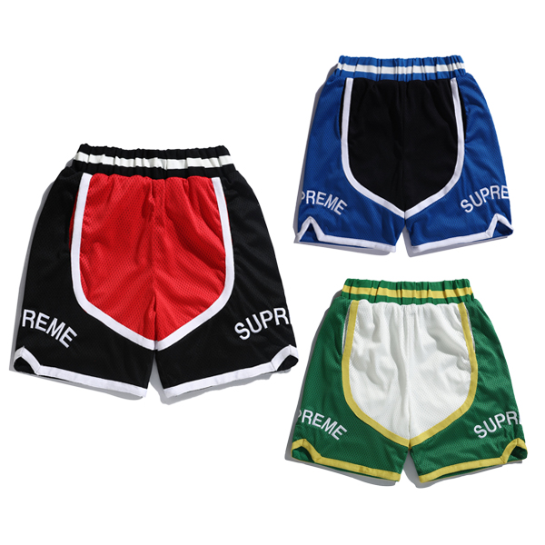 17SS Supreme Curve Basketball Shorts 3 Color