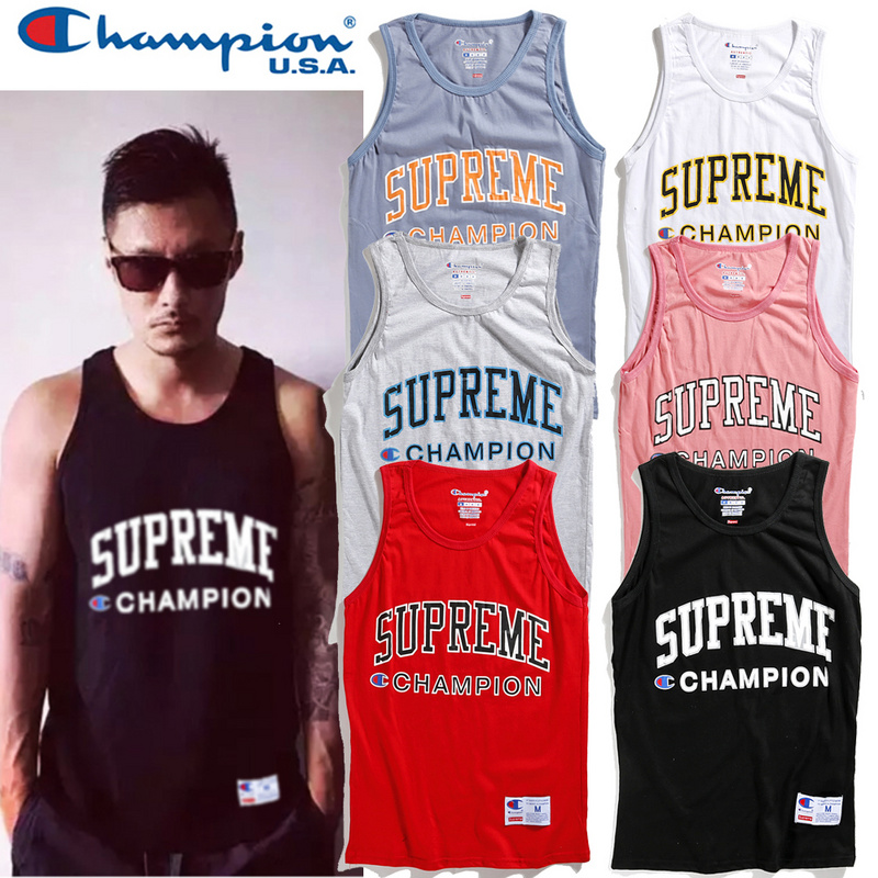 17SS Supreme X Champion Tank Top  6 Color