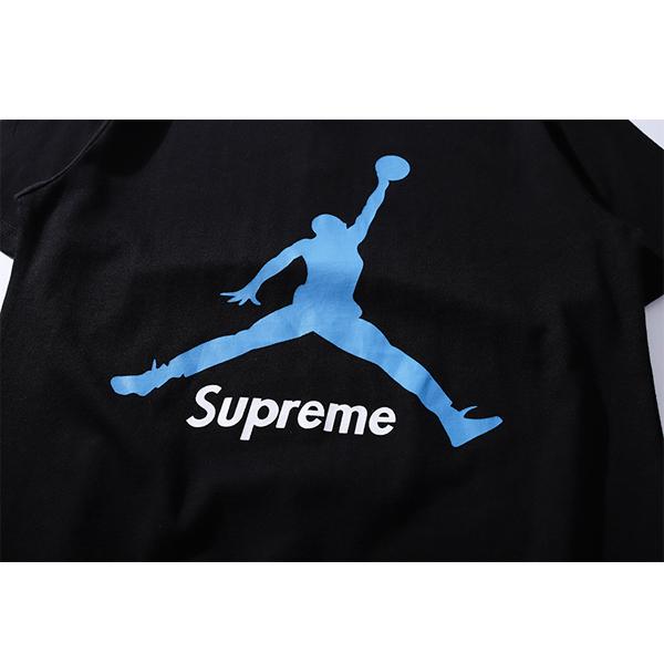 Supreme X Air Jordan Flight Logo T Shirt 2 Color