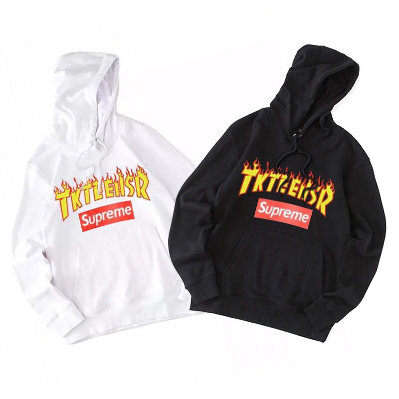 18SS Supreme X Thrasher Logo Hooded Sweatshirt 2 Color