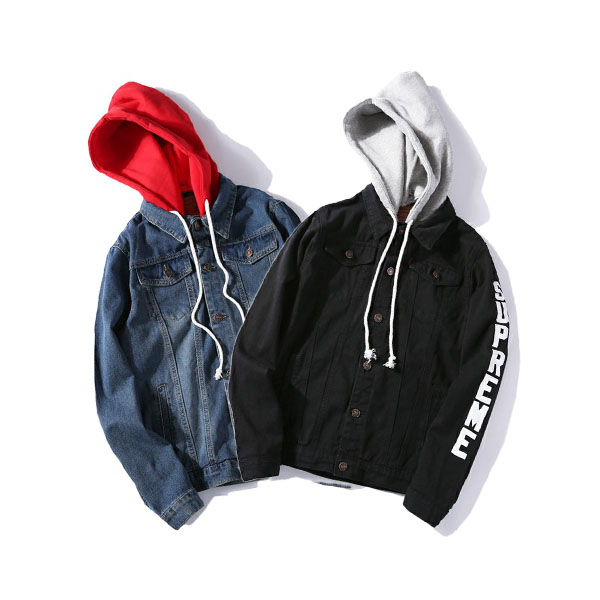 Supreme Fleece Hood Trucker Jacket 3 Color