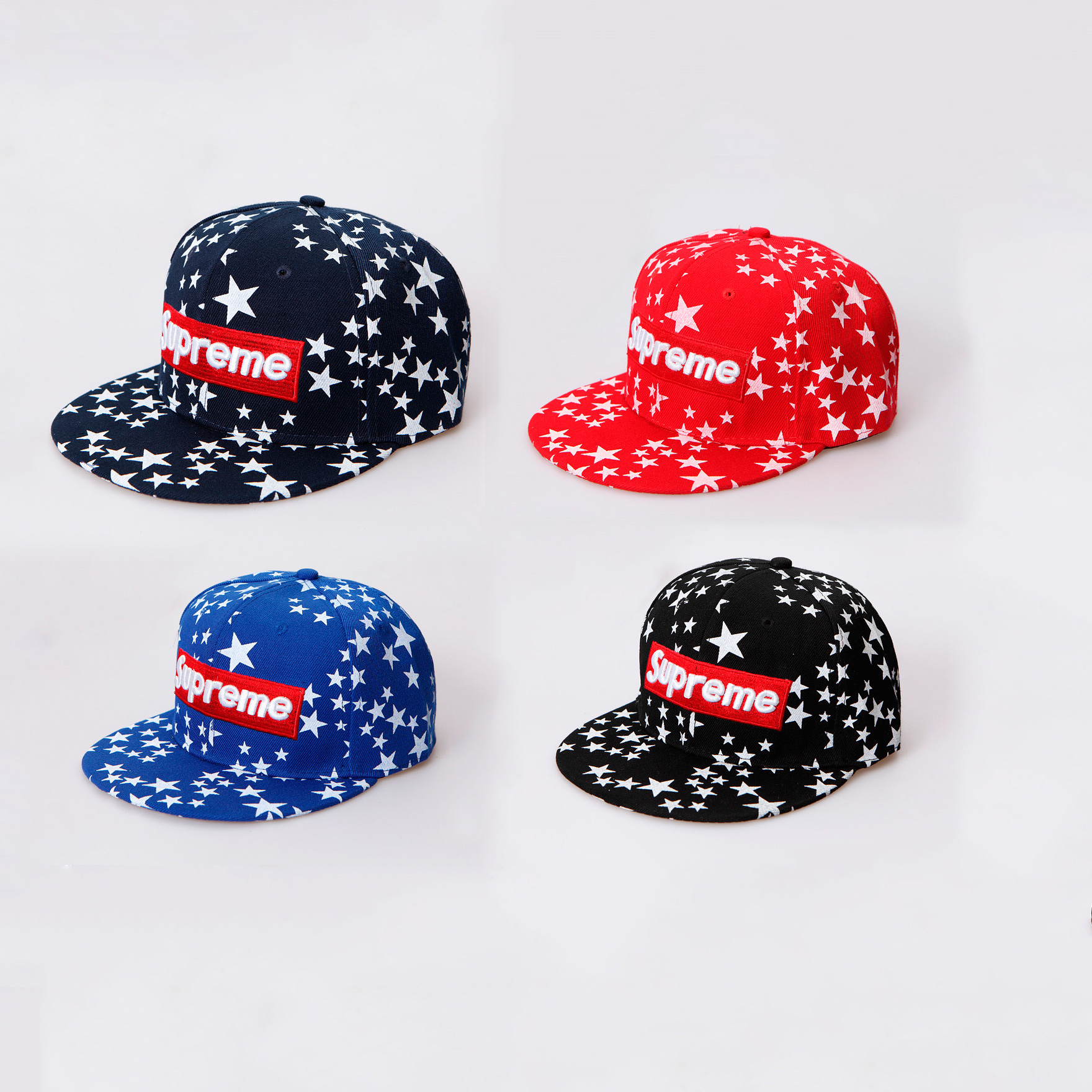 Supreme Logo Box Star Men/Women Cap 4 Color
