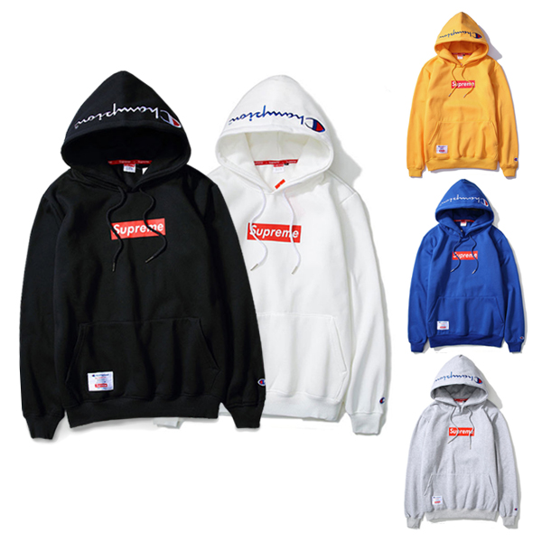 Supreme X Champion Logo Hooded 5 Color