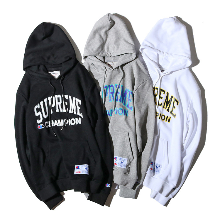 Supreme X Champion Logo Hooded 3 Color