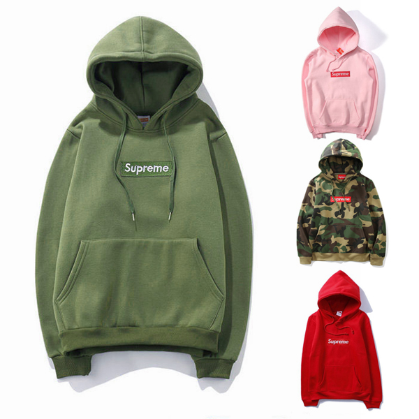 Supreme Logo Hooded Sweater 4 Color