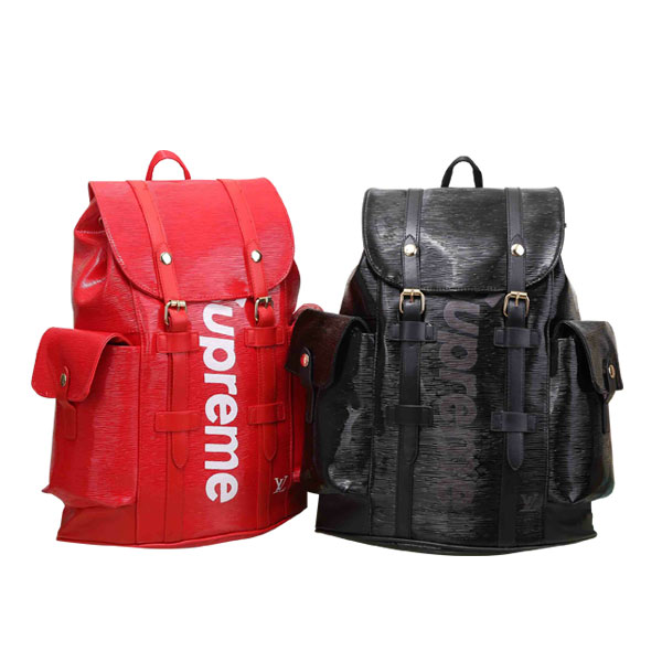 2017SS Supreme x Louis Vuitton Epi Leather Christopher PM Backpack Red