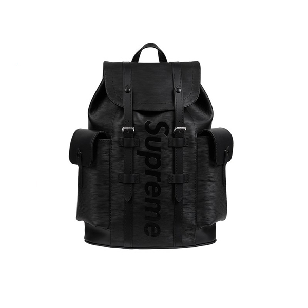 2017SS Supreme x Louis Vuitton Epi Leather Christopher PM Backpack Black