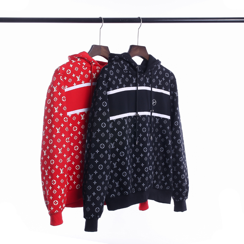 Supreme X Louis Vuitton Hooded Sweatshirt 2 Color