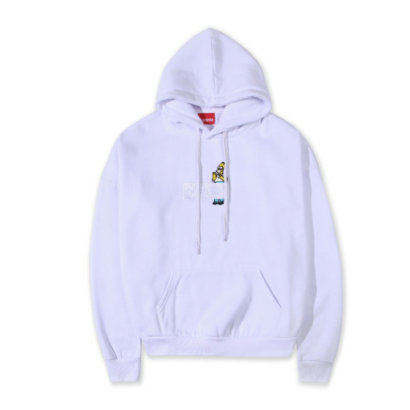 Supreme Simpson Box Logo Hooded Sweatshirt White