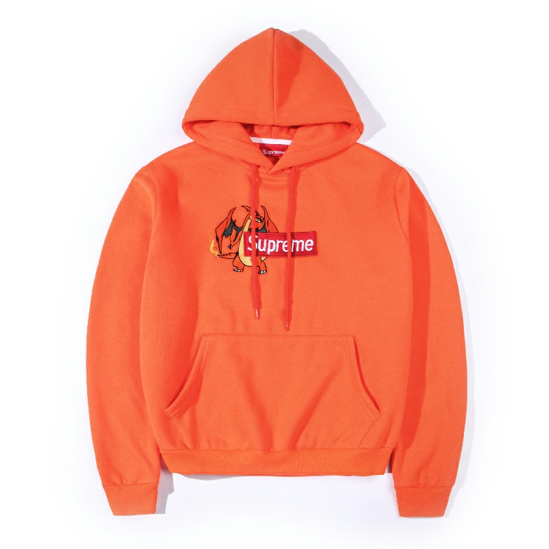 Supreme Box Logo Hooded Sweatshirt Orange