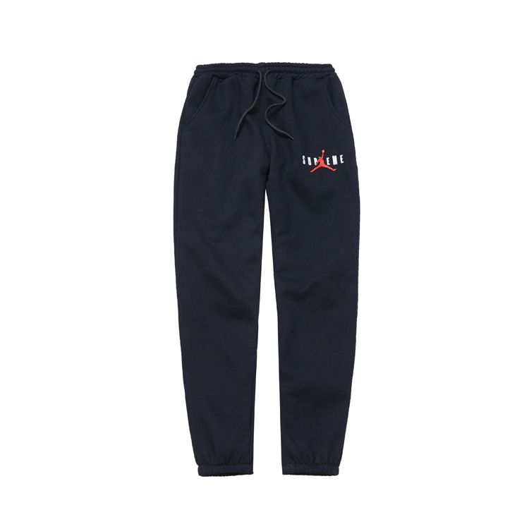 Supreme X Jordan Logo Sweat Pants Black