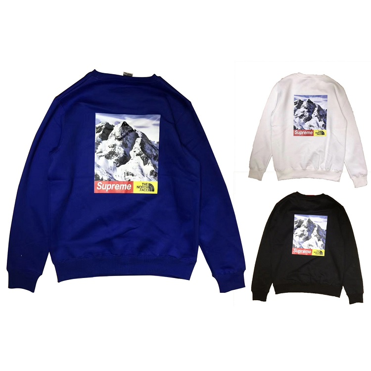 17FW Supreme X The North Face Mountain Crewneck Sweatshirt 3 Color