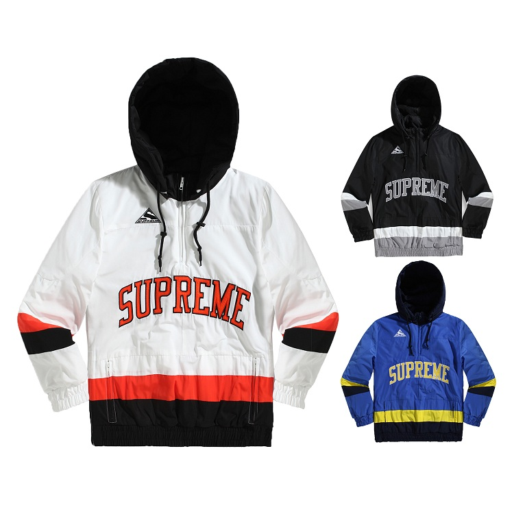 17FW Supreme Puffy Hockey Pullover 3 Color