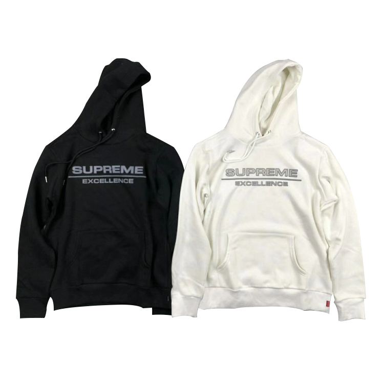 17 FW Supreme Reflective Excellence Hoodies 2 Color