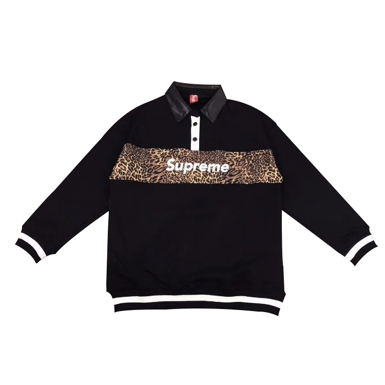 Supreme Logo Polo Shirt Black