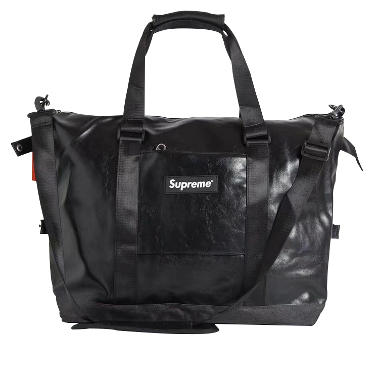 18SS Supreme PU Leather Handbag Black