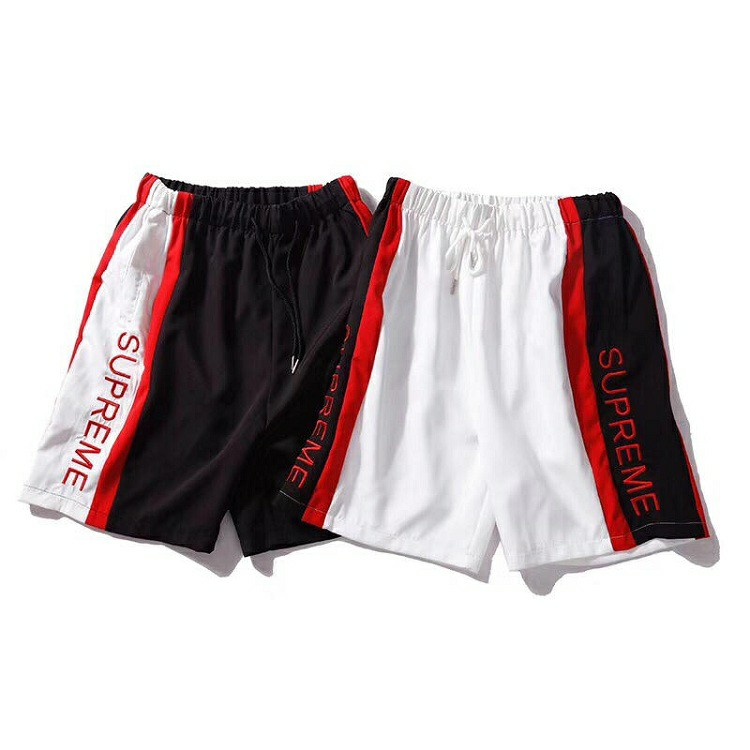 18SS Supreme Splice Logo Embroidered Sports Shorts 2 Color